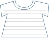 "T-Shirt Template: Perfect for a ""T-rrific"" Bulletin Board!"