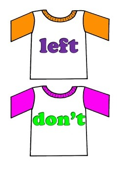 """T-Shirts on Clothesline """"FRY"""" Words - 3rd set of 100 Words"""