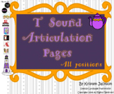 T Sound Articulation Pages
