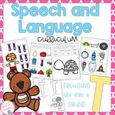 T Sound Speech and Language Curriculum