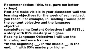 T-TESS Based Lesson For A Good Formal Teacher Observation