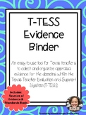 T-TESS Evidence Binder Texas Teacher Evaluation and Suppor
