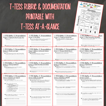 picture regarding T-tess Rubric Printable named T-TESS Rubric Documentation Printable