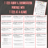 T-TESS Rubric & Documentation Printable