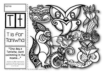 T = Taniwha {Kiwiana Themed 'Make & Take' Alphabet Set}