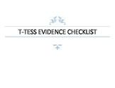 T-Tess Evidence Checklist