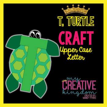 T - Turtle Upper Case Alphabet Letter Craft
