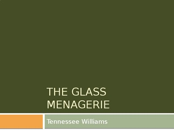 T. WILLIAMS / THE GLASS MENAGERIE / HISTORICAL BACKGROUND