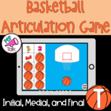 T Words Initial Medial Final Basketball Articulation Game
