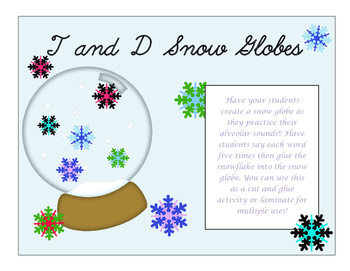 T and D Snow Globes
