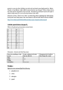 T'es Branche Unit 1 Lesson A Guided Notes and Activity handouts
