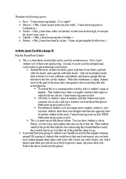 T'es Branche Unit 2 Lesson B Guided Notes and Activity handouts