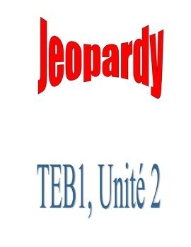 T'es branché 1, Unit 2 Jeopardy Review