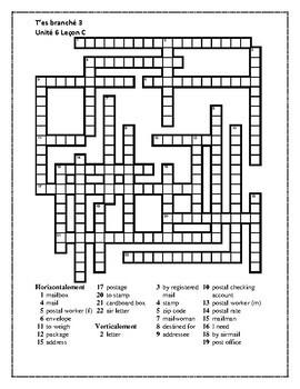 T'es branché 3 Unité 6 Leçon C Crossword