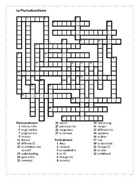 T'es branché 4 Unité 3 Leçon B Crossword