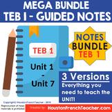 T'es branche Guided notes Level 1 TEB 1 (MEGA BUNDLE - TEB
