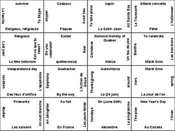 T'es branché Level 2 Unit 1A vocabulary puzzle