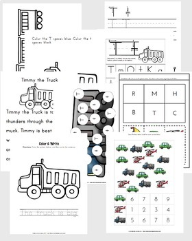 T is for Transportation Preschool Unit