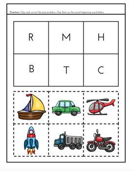 T is for Transportation Preschool Unit