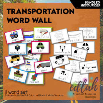 T is for Transportation Themed Preschool Lesson Plans (one week curriculum)