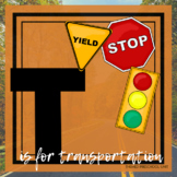 T is for Transportation Themed Unit-Preschool Lesson Plans (one week)