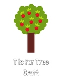 T is for Tree Craft Template