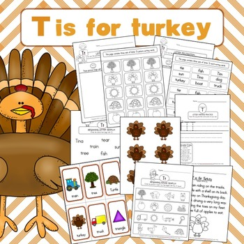 T is for Turkey - Thanksgiving Printable Activities