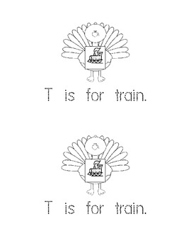 T is for Turkey: Mini book and Activities