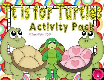 Letter of the Week - T is for Turtle Preschool Kindergarten Alphabet Pack