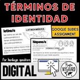 Términos de identidad: Digital Worksheets for Heritage Speakers