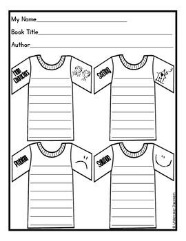 T Shirt Book Report Project & Rubric Set