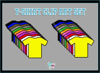 T-shirt Clip Art Set