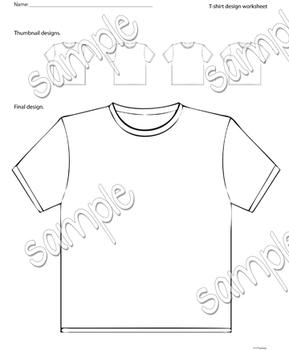 T-shirt design worksheet
