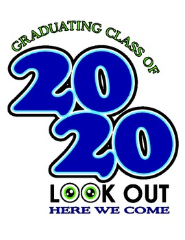 T-shirt or logo design for students graduating in 2020