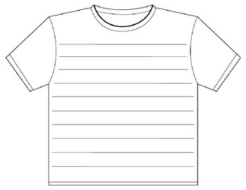 T-shirt writing prompt