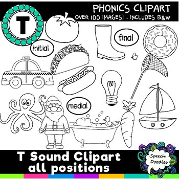 T sound clipart - 130 images! Articulation Clipart Phonetic Clipart