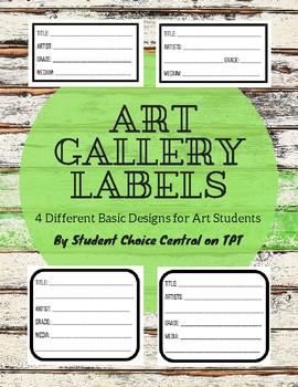 Art Gallery Labels