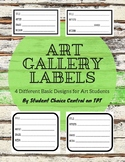 Art Gallery Labels