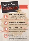 TAB Art Room Clean Up Poster