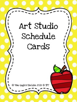 Art Studio Schedule Cards