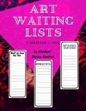 Art Waiting Lists