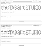 TAB Artist Statement Prompt (Sketchbook Insert)