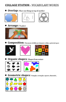 Collage Station Vocabulary Words