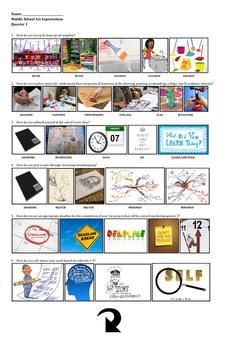 TAB Middle School Art Expectations Quarter 1