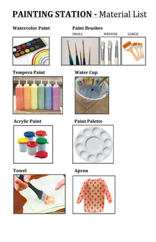 Painting Station Materials