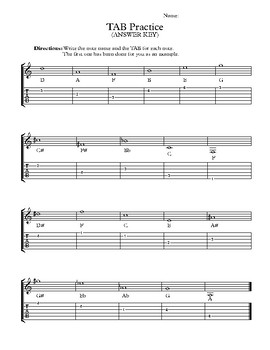 TAB Practice for Guitar