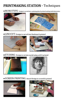 Printmaking Station Techniques