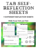 TAB Art Self-Reflection Sheets