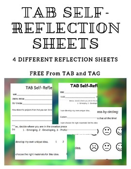 TAB Art Self-Reflection Sheets