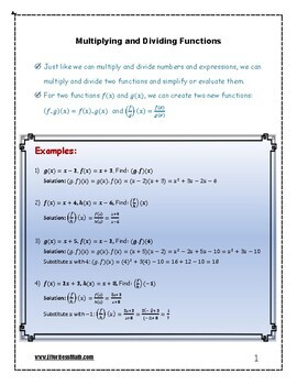 TABE Mathematics Prep: Multiplying and Dividing Functions